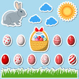 Set of easter elements Stock Photography