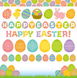 Set of Easter elements. Stock Image