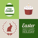Set of easter elements and labels Royalty Free Stock Photography