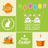 Set of easter elements and labels Royalty Free Stock Image