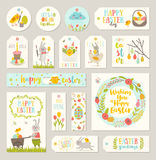Set of Easter gift tags and labels Stock Image
