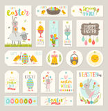 Set of Easter gift tags and labels Stock Photo