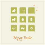 Set of Easter greeting cards Stock Images