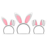 Set of Easter Hair Band Bunny Royalty Free Stock Photo
