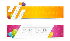 Set of Easter Holiady Banners Royalty Free Stock Photography