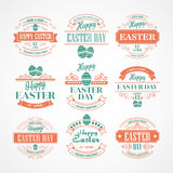 Set Easter Holiday typography. Vector illustration Royalty Free Stock Photos