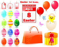 Set of Easter icons. Stock Image