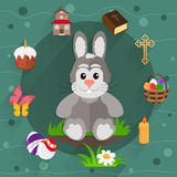 Set of Easter icons Stock Photos