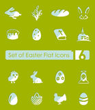 Set of easter icons Royalty Free Stock Images