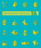 Set of easter icons Royalty Free Stock Photo