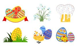 Set of easter icons in vector format eps10 royalty free illustration
