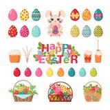 Set Easter ikony Zdjęcia Royalty Free