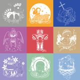 Set of Easter illustrations Royalty Free Stock Photos
