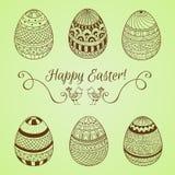 Set Easter jajka Obraz Royalty Free