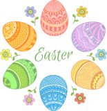 Set Easter jajka Obrazy Stock