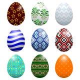Set Easter jajka Fotografia Royalty Free