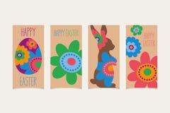 Set Easter karty Zdjęcie Stock