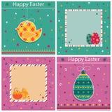 Wielkanocne karty Obraz Stock