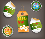 Set of Easter labels with text - Big Sale, Best Stock Images