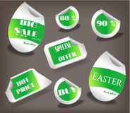 Set of Easter labels with text - Easter, Hot Price Royalty Free Stock Photography