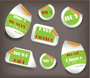 Set of Easter labels with text - Last Chance, Best Stock Photos