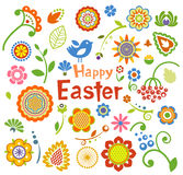 Set of Easter ornamental elements Royalty Free Stock Image