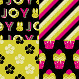 Set of Easter Patterns Royalty Free Stock Image