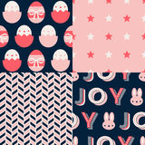 Set of Easter Patterns Royalty Free Stock Photography