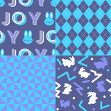 Set of Easter Patterns Stock Images