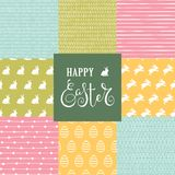 Set with 8 Easter patterns stock illustration