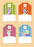 Stickers with rabbits Royalty Free Stock Photography