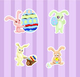 Stickers with rabbits Royalty Free Stock Image