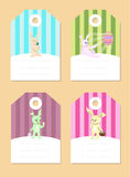 Stickers with rabbits Royalty Free Stock Photo