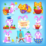 Set of easter rabbits Royalty Free Stock Photography