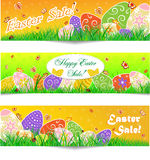 Set of 3 Easter Sale Banners Royalty Free Stock Photo