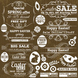 Set of easter sale offer labels, vector Stock Image