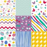 Set of Easter seamless patterns vector illustration