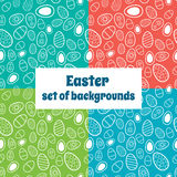 Set of Easter seamless patterns Stock Photo