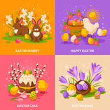 Set of Easter Spring Holiday Concepts Royalty Free Stock Photos