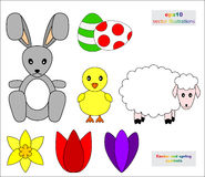 Set of Easter and spring symbols Stock Image