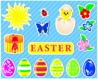 Set of easter stickers. Royalty Free Stock Photography