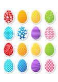Set of Easter stickers. Set of paper Easter stickers Stock Photo