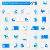 Set of easter stickers Stock Image