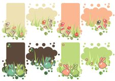 Set of easter tags Royalty Free Stock Image