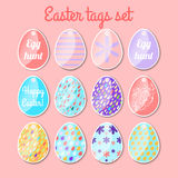 Set of Easter tags. Happy Easter! Spring abstract background. Royalty Free Stock Photography