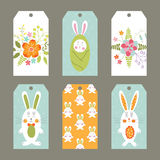 Set of Easter tags Royalty Free Stock Images