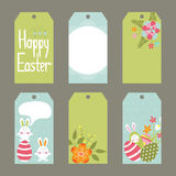 Set of Easter tags Stock Photo
