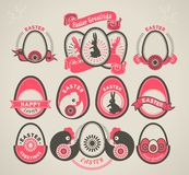Set of easter vintage elements Royalty Free Stock Photography