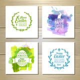 Set  of easter watercolor cards Royalty Free Stock Photography