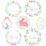 A set of Easter wreaths Royalty Free Stock Photography